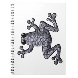 Diamond Frog Spiral Notebook