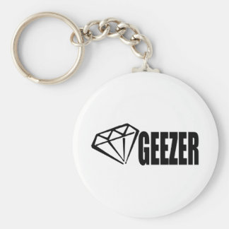DIAMOND GEEZER BASIC ROUND BUTTON KEY RING