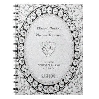 Diamond Glitter | Guest Book Spiral Note Book