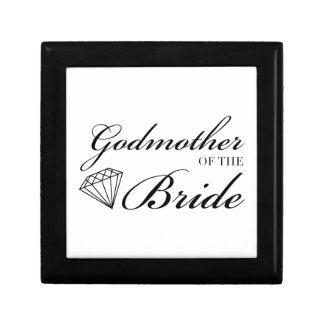 Diamond Godmother of Bride Black Gift Box