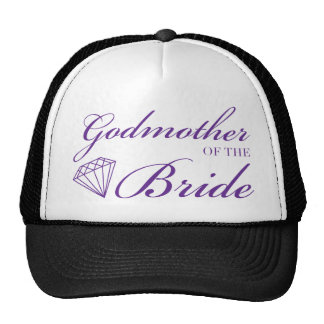 Diamond Godmother of Bride Purple Cap