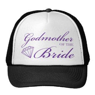 Diamond Godmother of Bride Purple Hats