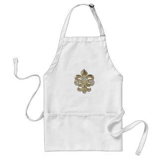 Diamond gold Fleur De Lis New Orleans Standard Apron