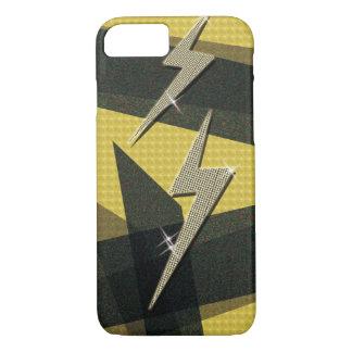 Diamond Gold Thunder Lightning Bolt iPhone 8/7 Case