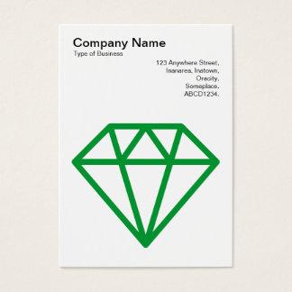 Diamond - Grass Green on White Business Card