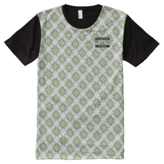 Diamond Green Polka Dots Designer Modern T-Shirt All-Over Print T-Shirt