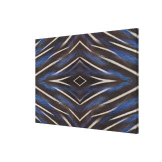 Diamond guinea fowl feather design canvas print