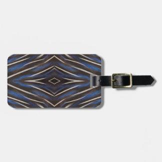 Diamond guinea fowl feather design luggage tag