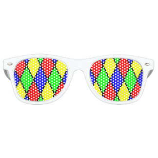 Diamond harlequin Adult Wayfarer Party Shades