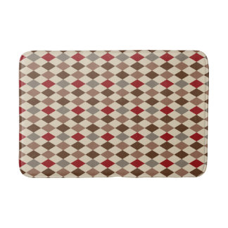 Diamond Harlequin Pattern Bath Mat