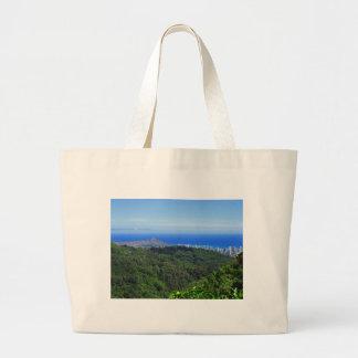 Diamond Head and Waikiki Jumbo Tote Bag