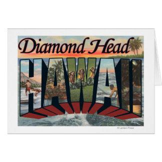 Diamond Head, Hawaii - Large Letter Scenes Card