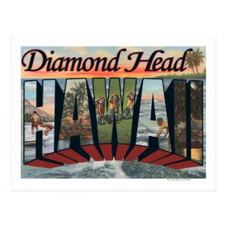 Diamond Head, Hawaii - Large Letter Scenes Postcard
