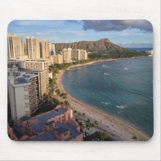 Diamond Head, Waikiki Beach, Hawaii Mouse Mat