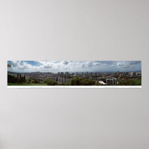 Diamond Head - Waikiki - Honolulu 180° Panorama Print