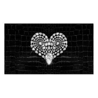 Diamond Heart Business Card Template