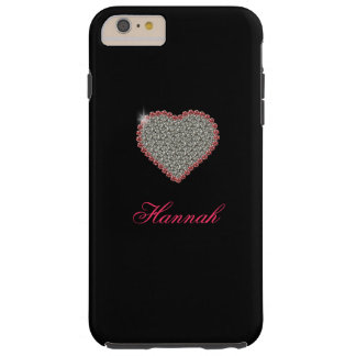 Diamond Heart Graphic Custom iPhone 6 Plus case