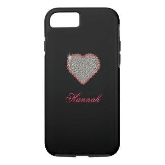 Diamond Heart Graphic Custom iPhone 7 case