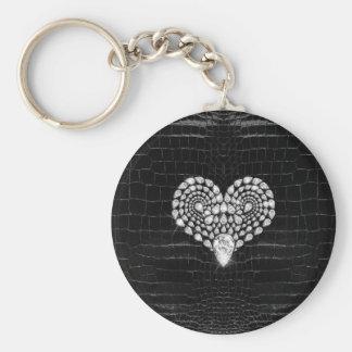 Diamond Heart Key Ring