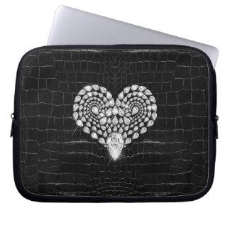 Diamond Heart Laptop Sleeve