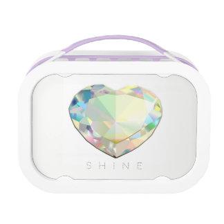 Diamond Heart Lunch Box
