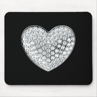 Diamond Heart Mouse Mat