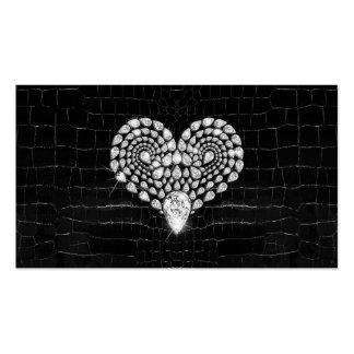 Diamond Heart Pack Of Standard Business Cards