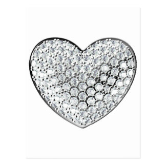 Diamond Heart Postcard
