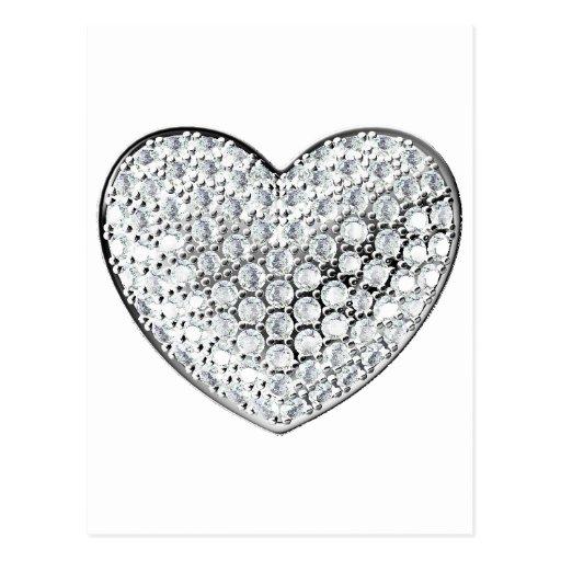 Diamond Heart Postcards