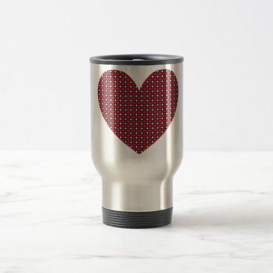 Diamond Heart Travel Mug