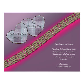 Diamond Hearts Lavender and Pink 21.5 Cm X 28 Cm Flyer