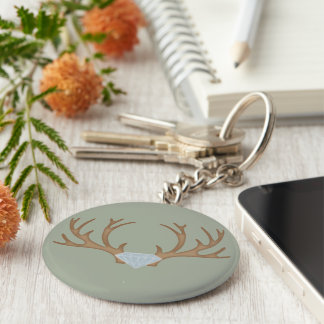 Diamond Hunter Basic Round Button Key Ring