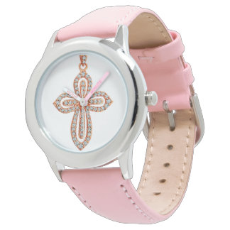 Diamond image for Stainless-Steel-Pink-watch Wrist Watch