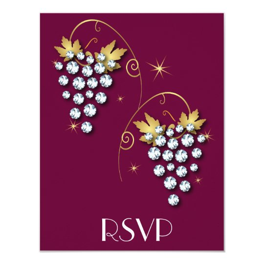 Diamond Invitations Grapes Design
