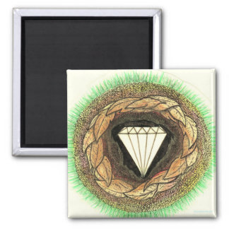 Diamond is Formed Under Great Pressure Square Magnet