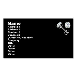 DIAMOND JEWELRY- Black Pack Of Standard Business Cards