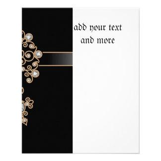 Diamond,jewelry,lace,silver,lace,black,pearls,chic 11.5 Cm X 14 Cm Flyer