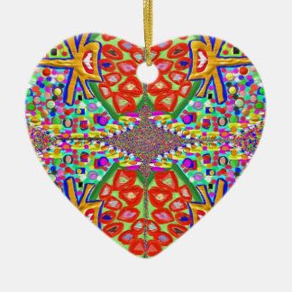 Diamond Jewels : Fine Art Collections Double-Sided Heart Ceramic Christmas Ornament