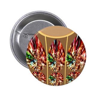 Diamond Jewels n NOVINO Crystal Patterns 6 Cm Round Badge