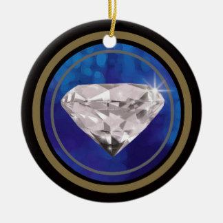 diamond ~jewels round ceramic decoration