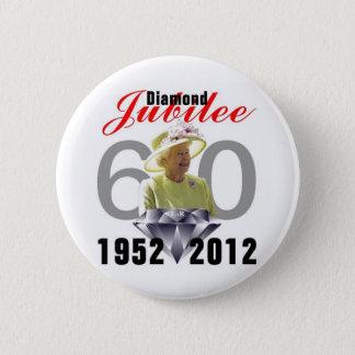 Diamond Jubilee 1952-2012 6 Cm Round Badge