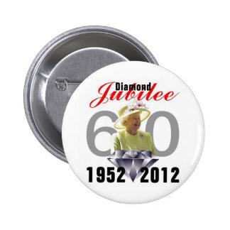 Diamond Jubilee 1952-2012 Pinback Button