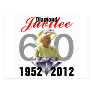Diamond Jubilee 1952-2012 Postcard