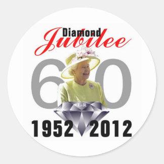 Diamond Jubilee 1952-2012 Round Sticker