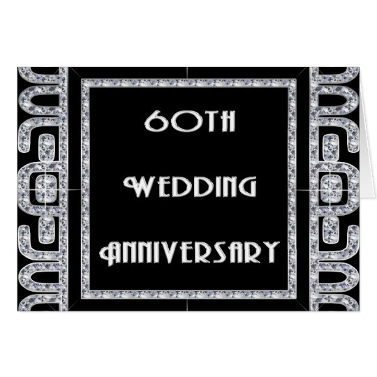 Diamond Jubilee 60th Wedding Anniversary Card
