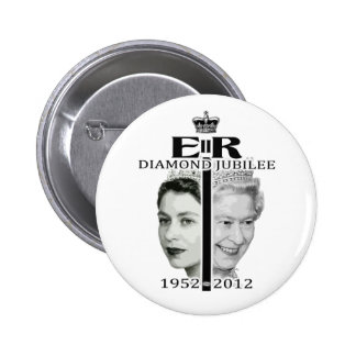 Diamond Jubilee 6 Cm Round Badge