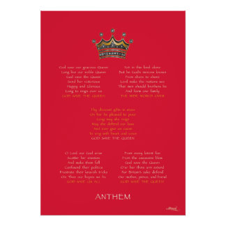 Diamond Jubilee Anthem Red Poster