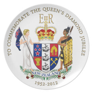 Diamond Jubilee New Zealand Plate