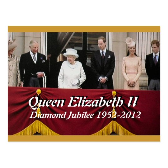Diamond Jubilee royal family portrait postcard