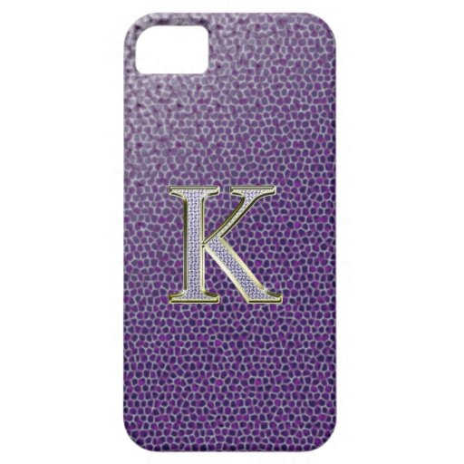 "Diamond ""K"" Bling Iphone 5 ""Barely There"" Case iPhone 5 Case"
